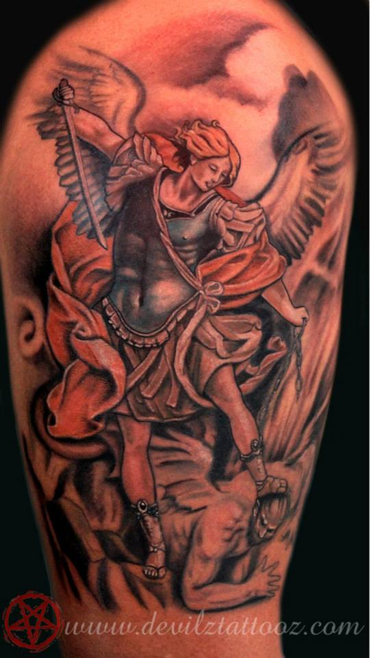 75 St Michael Tattoo Designs For Men – The Archangel And Prince photo