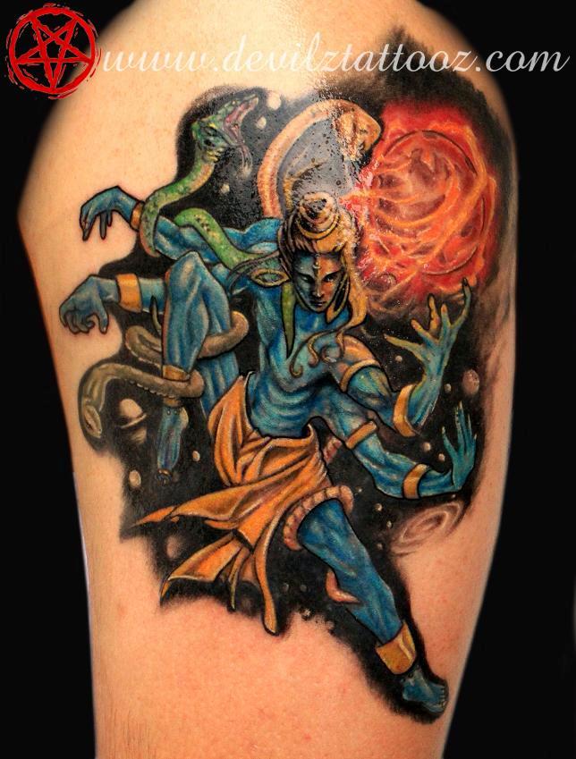 Tattoo art work by tattoo artist for Har har mahadev tattoo