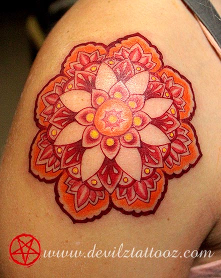 for Red henna tattoo