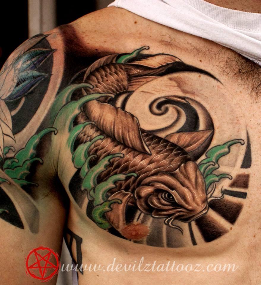 49 Best Chest Koi Fish Tattoos Images On Pinterest: Tattoo Artist Alex Shimray In Delhi, Tattoo Work Done By