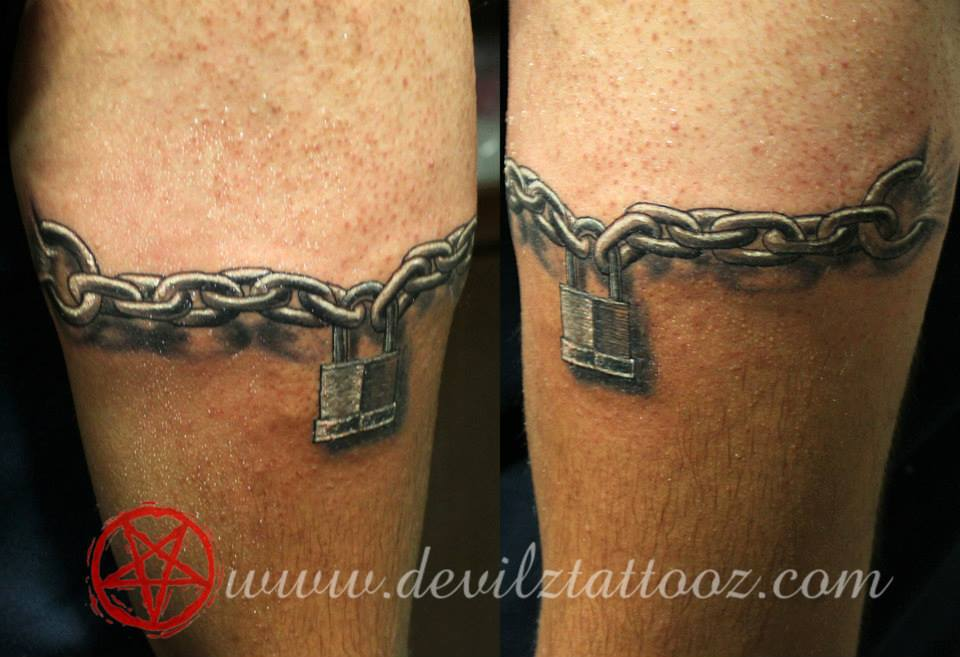 tattoo art work by tattoo artist lock chain 3d tattoo. Black Bedroom Furniture Sets. Home Design Ideas